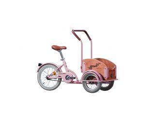 Bicicleta Pegas Mini Cargo Roz Bujor