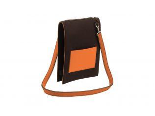 Geanta-Umar-Nfun-Trendy-Negru cu portocaliu