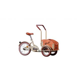 Bicicleta Pegas Mini Cargo Crem Aluna