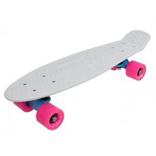 Penny Board Slv Neon 22 INCH alb cu roz